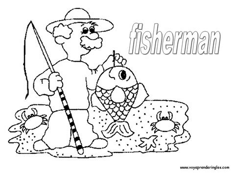 de ni a pescando para imprimir y pintar dibujos para colorear de la 19 fisherman pescador todo infantil