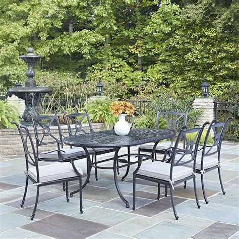 Home Styles Athens Charcoal Piece All Weather Cast Cast Aluminum Patio Furniture Reviews
