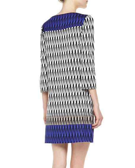 Ruri Dress diane furstenberg ruri 3 4 sleeve printed dress