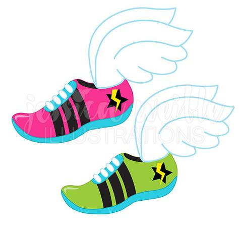 running shoes with wings clipart chartreuse wings field clipart clipground
