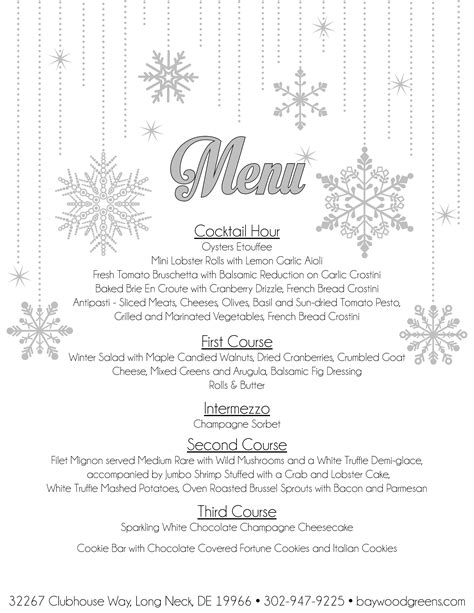 jumbo new year menu 2016 new year s at baywood greens baywood greens