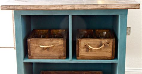 turn bookshelf into rolling kitchen island hometalk