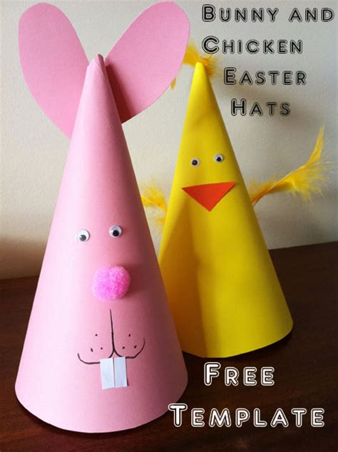 easy easter bonnet template easy easter craft for bunny and chicken easter