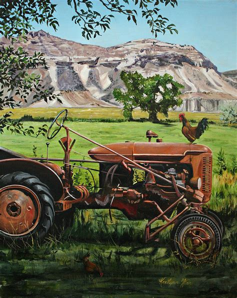 tractor painting tractor painting by kaelynn winn