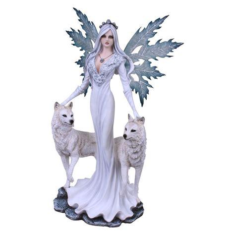 American Spirit Lights Aura Fairy Amp Wolf S Figurine Nemesis Now The Mystical