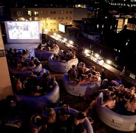 cinema on the roof drinkstuff tubs and cinema on the roof to
