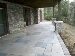 Pavers Or Concrete Patio Concrete Paver Patios 171 Defranco Landscaping