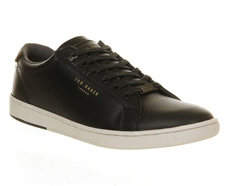 mens casual sneaker mens ted baker theeyo sneakers black leather casual shoes