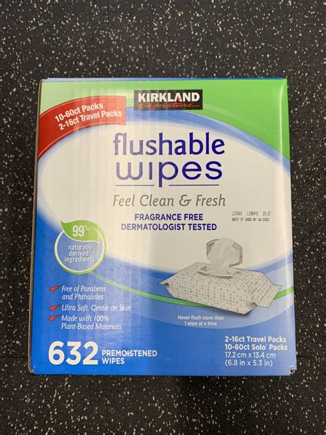 costco kirkland signature flushable wipes  count costco fan