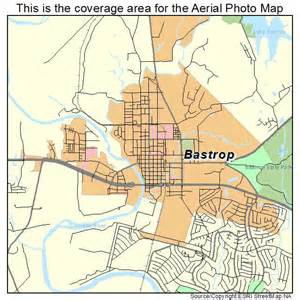 aerial photography map of bastrop tx