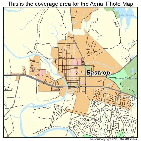 bastrop texas map aerial photography map of bastrop tx texas