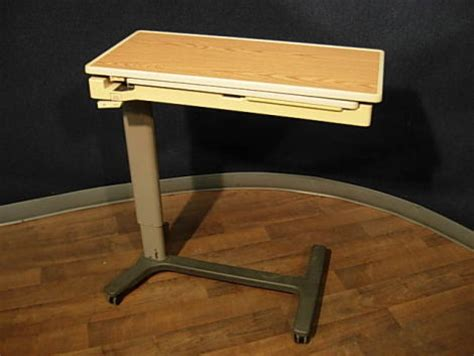 hill rom overbed table used hill rom pm jr overbed table for sale dotmed