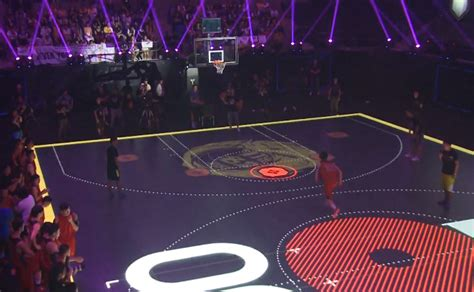 basketball interactive nike creates basketball court w interactive led flooring
