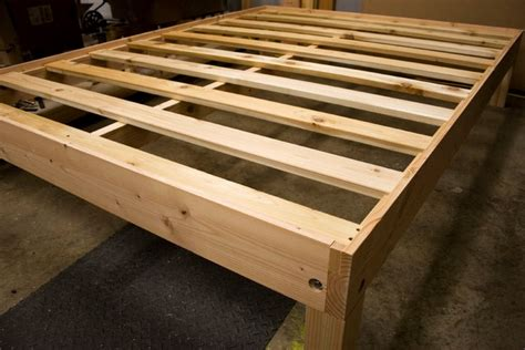 Platform Bed Frame Solid Wood Custom Size Solid Wood Platform Bed Frame Local Only
