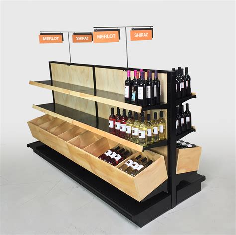 Store Racks by Wooden Wine Display Shelving Liquor Store Fixtures 2