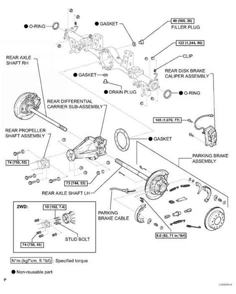 diagram of rear differential toyota corolla axle diagram 04 toyota corolla parts