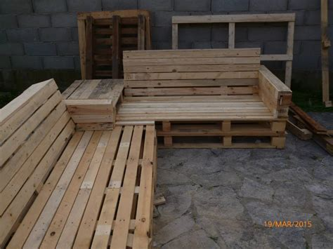 diy section pallet sectional patio set