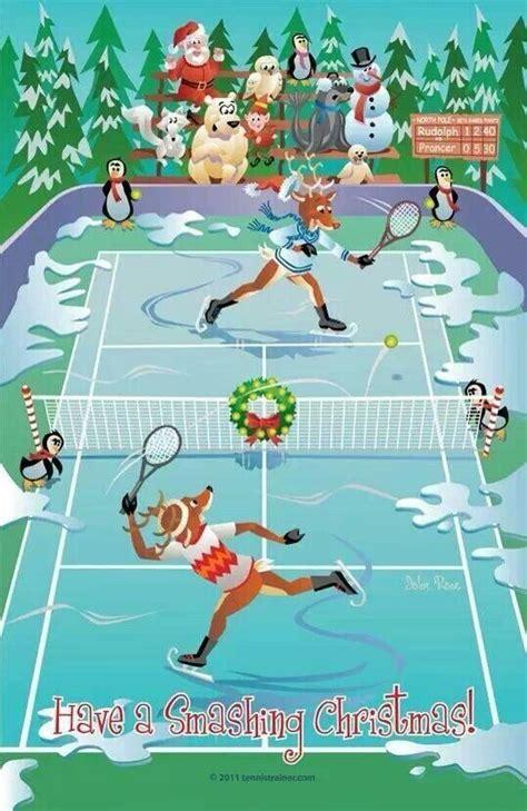 whimsical tennis themed christmas card tennis art tennis clubs tennis match