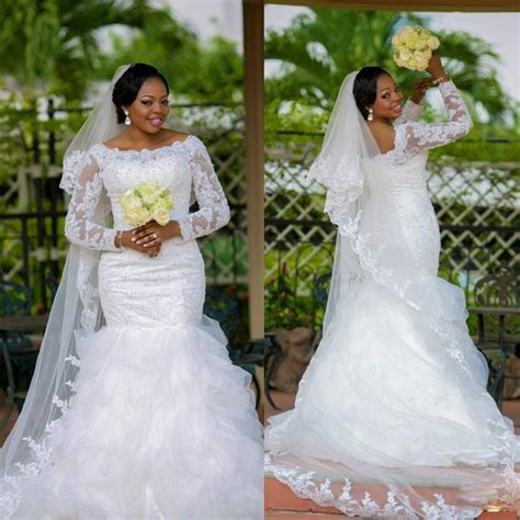 Popular Gown Beaded Nigerian Bridal Gown Buy Cheap Gown