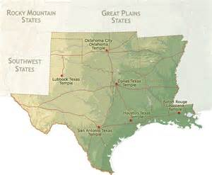 lds mormon temples geographical region south central states