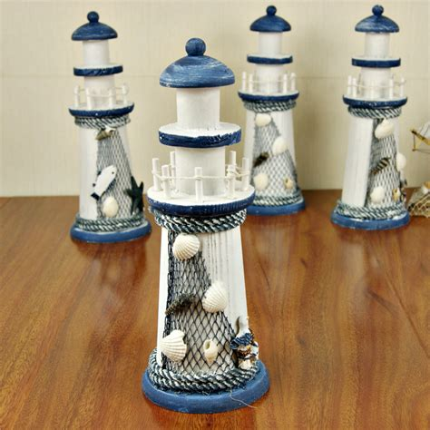 Ocean Themed Bathroom Ideas K1322 Yj Lighthouse Mediterranean Lighthouse Wood Crafts