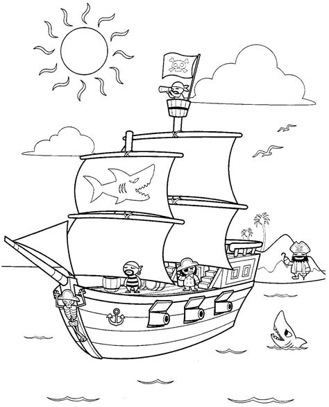 301 Moved Permanently Pirate Themed Coloring Pages