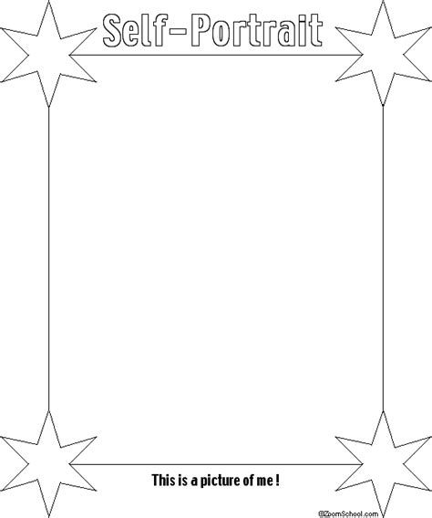 A Book About Me Self Portrait Page Enchantedlearning Com Self Portrait Template