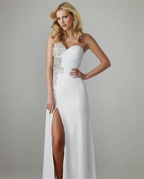 White Elegan white prom dresses naf dresses