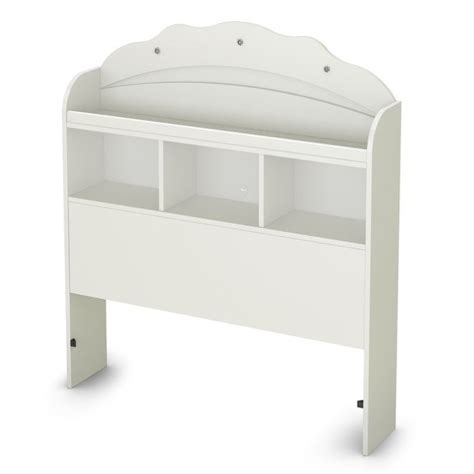 south shore sabrina twin bookcase headboard in white 3650098