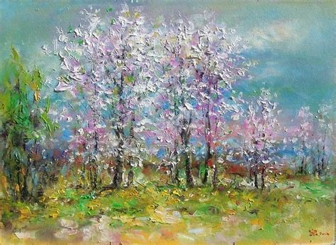 spring paint spring landscape painting by ioan popei