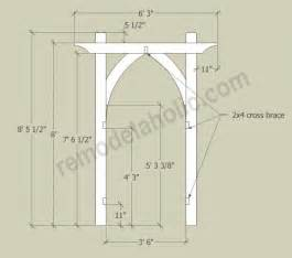 Arbor Building Plans Vegetable Garden Arbor Diy Plans