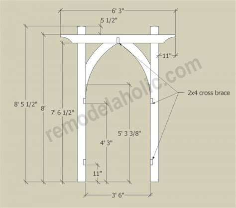 Wedding Arch Blueprint by Diy Garden Arbor Plans Wood Pallet Project Ideas