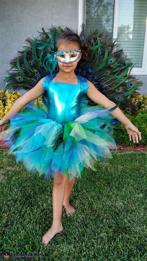 homemade peacock costume  girl