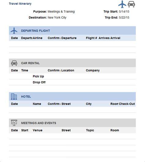 travel itinerary template  premium templates