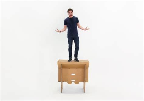 refold s portable cardboard standing desk by refold