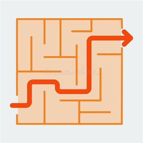 maze puzzle game icon stock vector illustration