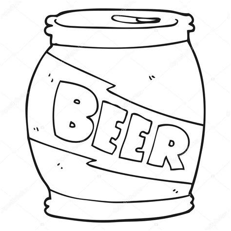 cartoon beer black and canette de bi 232 re de dessin anim 233 noir et blanc image