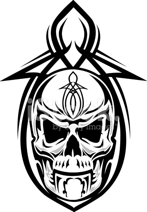 skull pinstripe design stock vector freeimages com