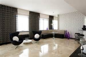 Blue Swivel Chair Living Room Design Ideas Marble Ceramic Floor Tile Types For Contemporary Living Room Decorating Ideas With Modern