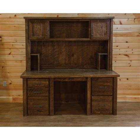 executive desk with hutch barn wood style executive desk with hutch