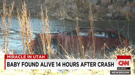 baby miraculously alive in car sunk in utah river cnn baby found alive 14 hours after car plunges in river