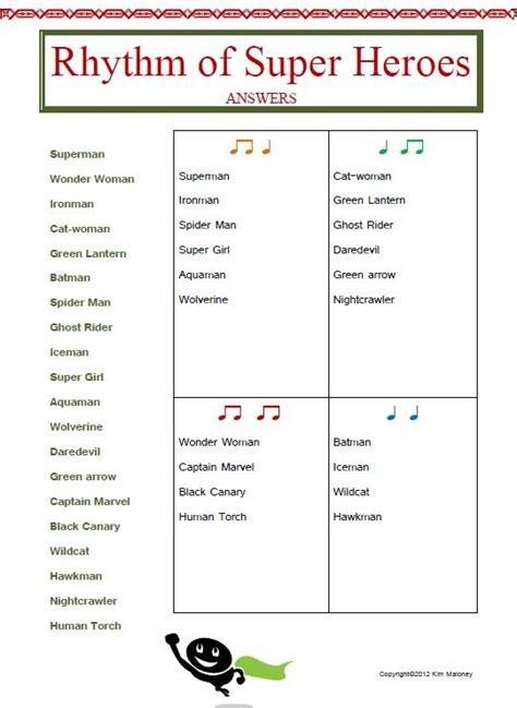 Rhythm Worksheets by Rhythm 12 Rhythm Worksheets Set 2 Teaching Heroes And