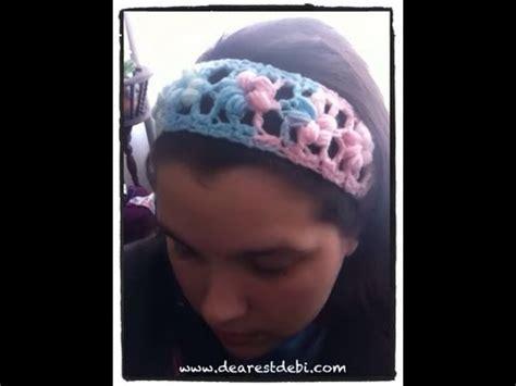 crocheted floral headband 183 how to stitch a knit or crochet puff flower stitch headband
