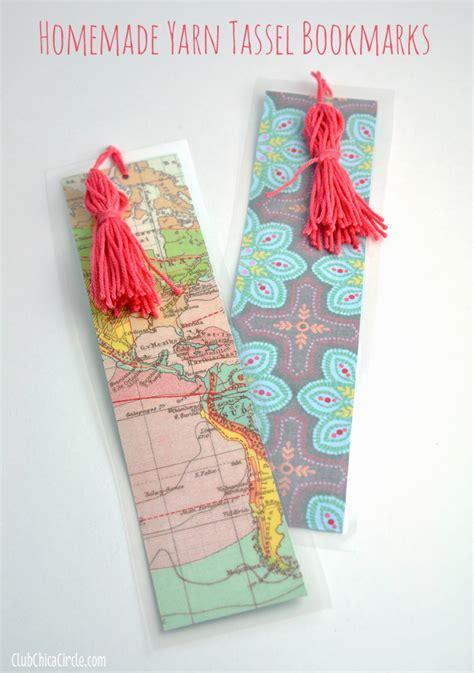 Easy Handmade Bookmarks - easy tassel bookmarks