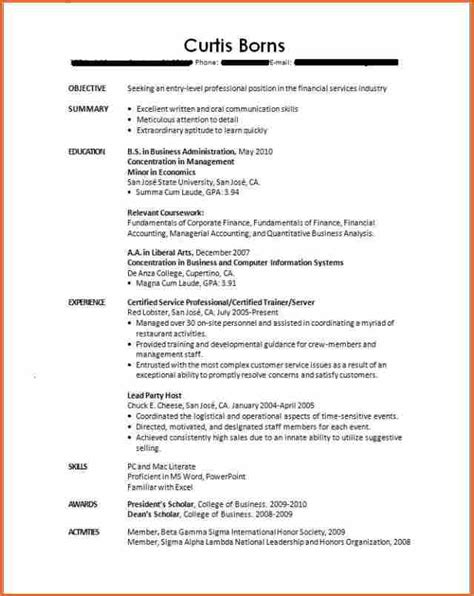 Resume Template College Graduate by 10 Resume Template For Recent College Graduate Budget