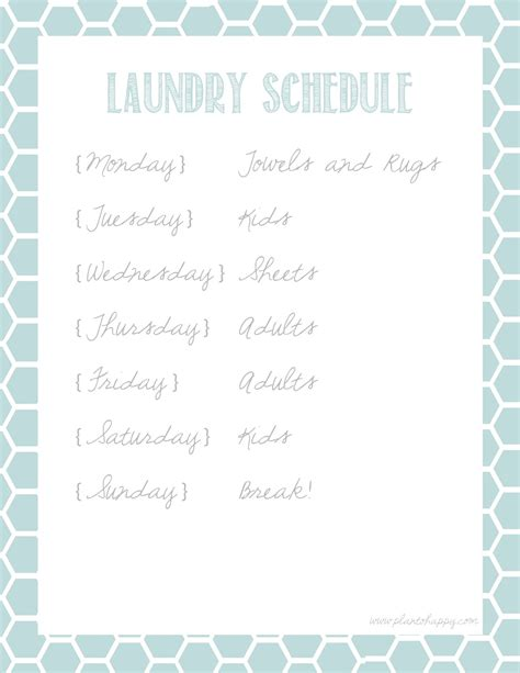 5 Best Images Of Laundry Schedule Printable Printable Laundry Schedule Template Free Laundry Schedule Template