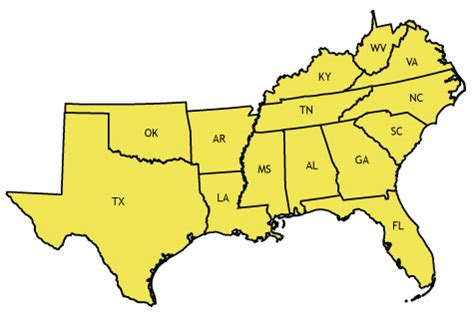 map of the united states southern region southern us us greenbrokers