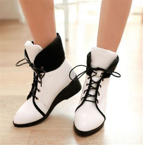 shoes for with braces details about womens faux leather sneakers lace up soft