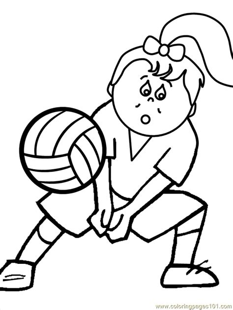 coloring pages of volleyball players volleyball5 coloring page free volleyball coloring pages