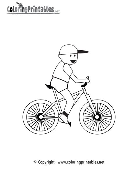 free coloring pages of bike in city